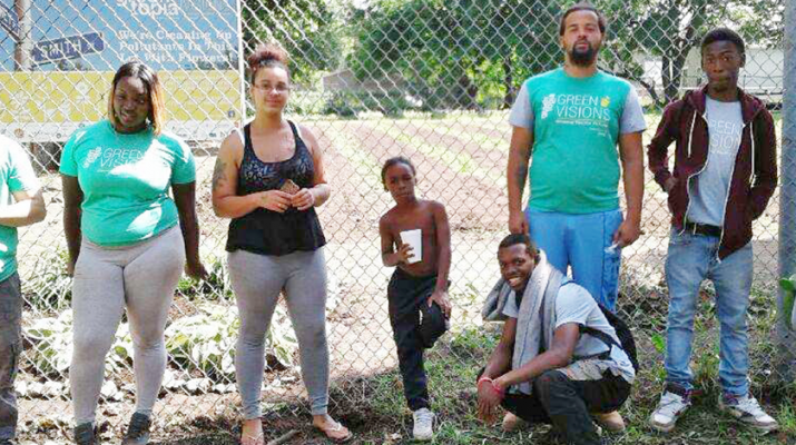 Pictured here are the participants in the 2017 Green Visions, a workforce development and phytoremediation program based at 797 Smith St., which transforms vacant properties in the heart of downtown Rochester into profitable flower gardens.