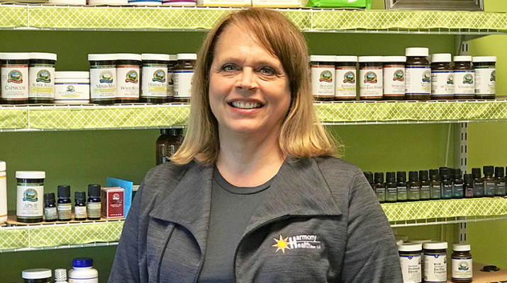 Cindy Fiege, now 58, operates Harmony Health Store, LLC in Spencerport.