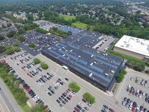 Solar panel generators at Rochester Regional Health's the Riedman campus at 100 Kings Hwy. S. in Rochester.