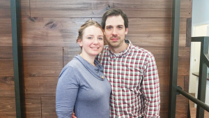 "Lainey and Derek Barclay of Pivot Acupuncture, which operates in Bergen and Rochester. In addition to being an acupuncturist, Derek has a background in physical therapy. ""A combo of PT and acupuncture is much more effective than one alone,"" he says."