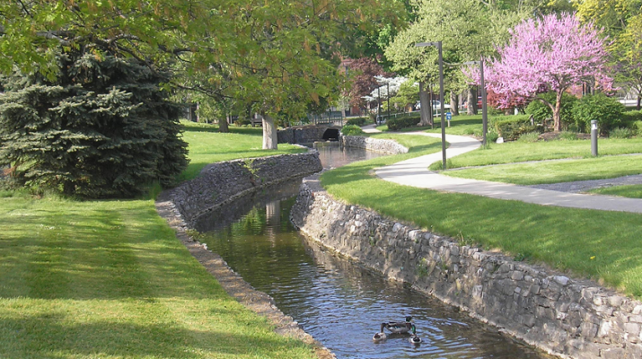 Sulfur Creek, which runs through Clifton Springs, helped lead physician Henry Foster to found what came to be known as the Clifton Springs Sanitarium in 1850.