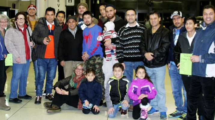 Welcoming SIV family: Volunteers with No One Left Behind – Rochester Chapter welcome members of a family who arrived in Rochester from the Middle East. They received a special immigration visa for translation services they provided to American troops in Iraq and Afghanistan.