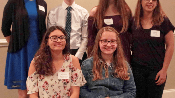 Several local students received $1,000 scholarships from the Hearing Loss Association of America Rochester Chapter. They are, standing from left, Megan Minkel, Attica High School; Hunter Williams, Rochester School for the Deaf; Alyssa Kingston, Geneseo Central School; Diane Ward, RSD. Seated from left are Neriyah McPherson and Courtney Gentzke, both RSD. Absent: Jeffery Flood, Irondequoit High School.Several local students received $1,000 scholarships from the Hearing Loss Association of America Rochester Chapter. They are, standing from left, Megan Minkel, Attica High School; Hunter Williams, Rochester School for the Deaf; Alyssa Kingston, Geneseo Central School; Diane Ward, RSD. Seated from left are Neriyah McPherson and Courtney Gentzke, both RSD. Absent: Jeffery Flood, Irondequoit High School.