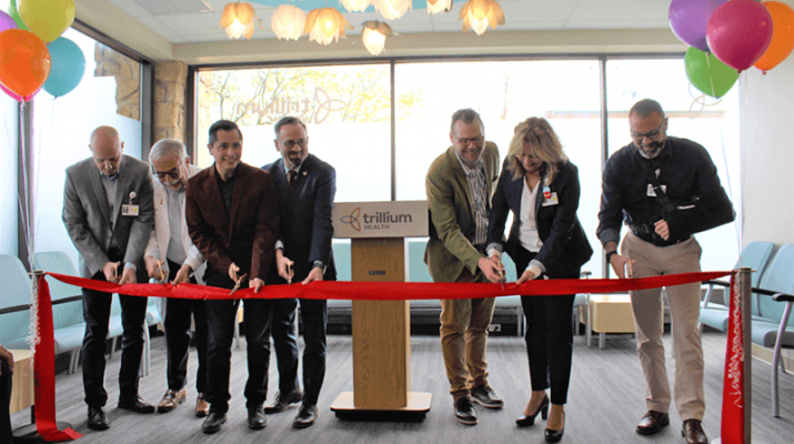 Trillium Health during a ribbon-cutting event marked to open the renovated and expanded clinic at 259 Monroe Ave. at Monroe Square in Rochester.