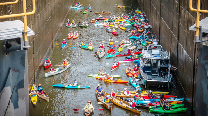 Paddling is one way people can participate in the Canalview Challenge along the Erie Canal.