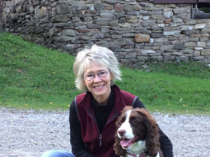 Gwenn Voelckers and her dog Scout recently enjoying some leaf peeping at Harriet Hollister Park at the end of Canandaigua Lake.