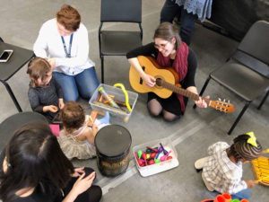 Collaborative play through musical exploration at Hochstein's Musical Mystery Tour.