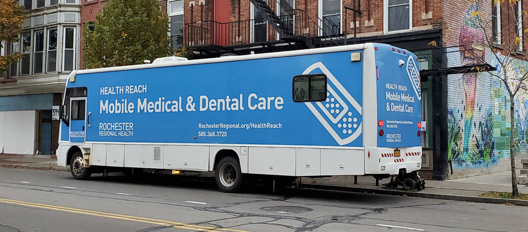 The Mobile Medical Unit stationed at St. Joe's House of Hospitality