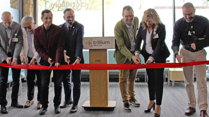 Trillium Health leaders in May cut the ribbon on an expanded and renovated clinic space at 259 Monroe Av.e at Monroe Square in Rochester. File photo.