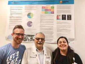 Physician WilliamValenti (center) with Trillium Health employees Michael Lecker, and Susanna Speed.