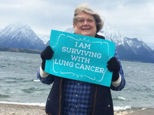 Colleen Conner Ziegler of Rochester visited Wyoming's Grand Teton National Park after she received a diagnosis of lung cancer five years ago, even though she never smoked in her life. She now is an advocate for more lung cancer research funding.