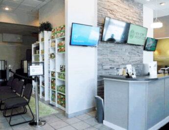 Interior of Modern Chiropractic & Pain Relief, located three miles south of East View Mall on 311 W. Main St, Victor. The practice is a Chiro Club, which gives patients a collection of services and unlimited visits, with no co-pays.