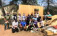 Students at New York Chiropractic College donating their time to build and repair homes through Habitat Humanity of Seneca County.