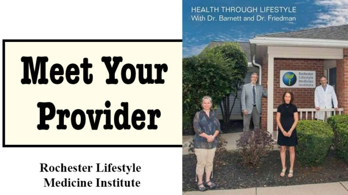 Team at Rochester Lifestyle Medicine Institute: from left, Maria Dewhirst, Robert Franki, Beth Garver, Ted D. Barnett, MD, Susan M. Friedman, MD, MPH, Courtesy of photographer Keith Bullis.