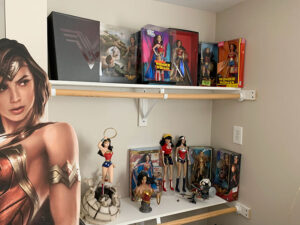Atkinson collects everything related to Wonder Woman. The dozens items on display on and around his desk at Unity Hospital represent only a fraction of the 1,000 or so he owns.