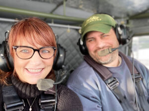 Patients of Leanne Mikiciuk, a registered nurse at Unity Hospital, likely never imagine that their caregiver zips over Western New York landscapes as the co-pilot to fiancé Jeffrey LaChausse in his Whittman Buttercup two-seater aircraft.