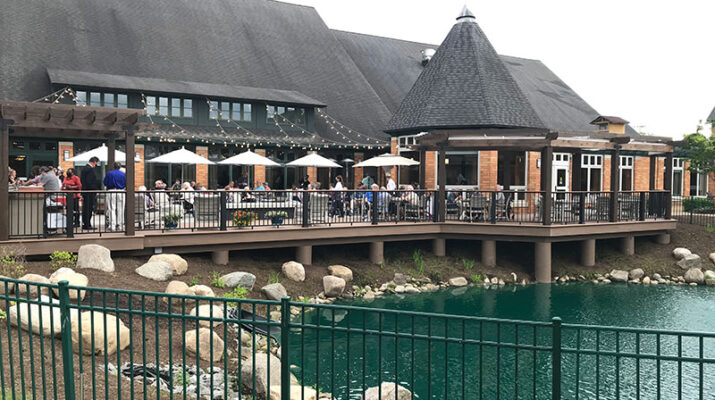 An overview of the new patio that was recently opened at The Summit at Brighton.