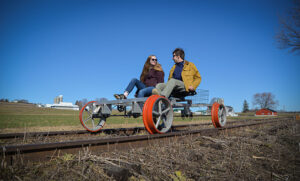 Want to ride the rails? A new excursion in the Finger Lakes lets you pedal as a pair.